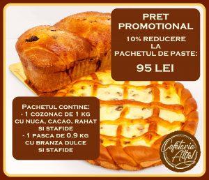 pachet promotional de paste cu reducere 10%: cozonac si pasca de la Cofetaria Altfel
